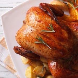 Poulet entier grillé Halal
